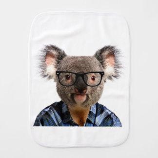 Hipster Koala Burp Cloth