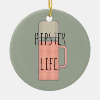 Hipster Life Illustration Design Collection Ceramic Ornament