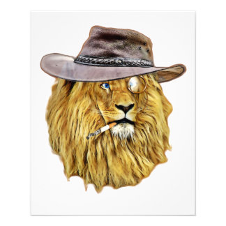 Hipster Lion Animal 11.5 Cm X 14 Cm Flyer