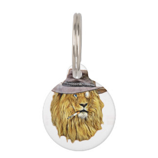 Hipster Lion Animal Pet Tags