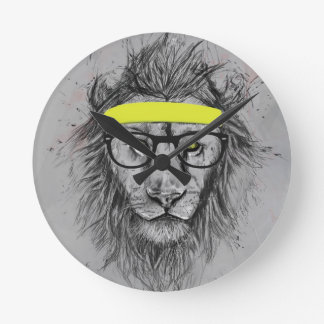 Hipster lion wall clocks
