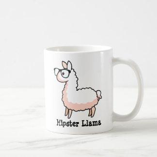 Hipster Llama Basic White Mug