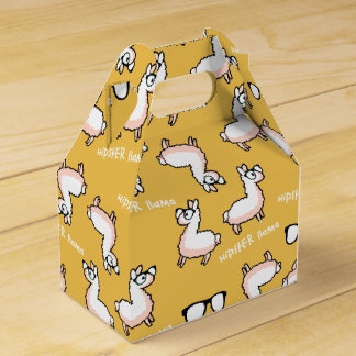 Hipster Llama Madness Favour Box