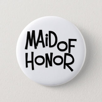 Hipster Maid of Honor 6 Cm Round Badge