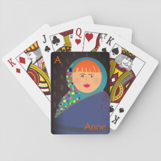 Hipster Modern Matryoshka Colorful Russian Doll Playing Cards