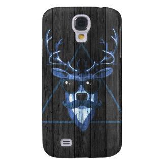Hipster Moustache Deer - Cyan Galaxy S4 Case