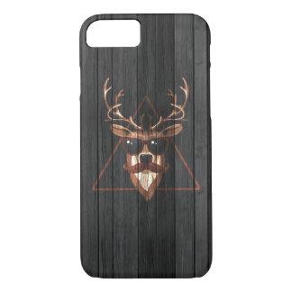 Hipster Moustache Deer - Dark Edition iPhone 7 Case