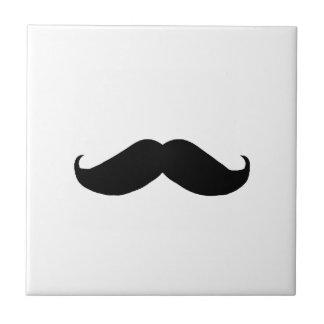 Hipster Mustache Ceramic Tile