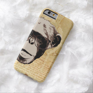Hipster Nerdy Chimp in Glasses iPhone 6 Cases