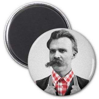 Hipster Nietzsche 6 Cm Round Magnet