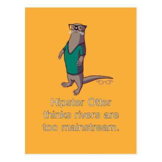 Hipster Otter Postcard