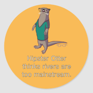 Hipster Otter Stickers