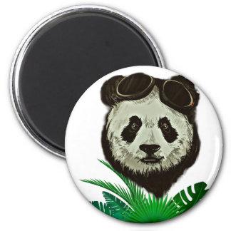 Hipster Panda Bear Animal 6 Cm Round Magnet
