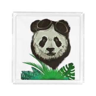 Hipster Panda Bear Animal Acrylic Tray