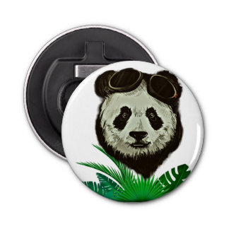 Hipster Panda Bear Animal Bottle Opener