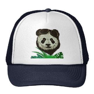 Hipster Panda Bear Animal Cap