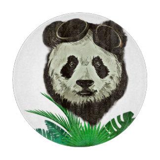 Hipster Panda Bear Animal Cutting Board