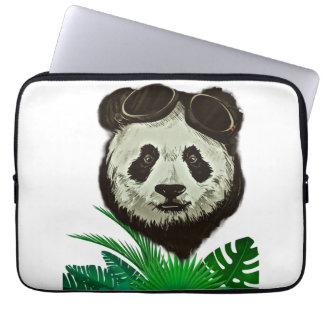 Hipster Panda Bear Animal Laptop Sleeve