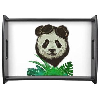 Hipster Panda Bear Animal Serving Tray