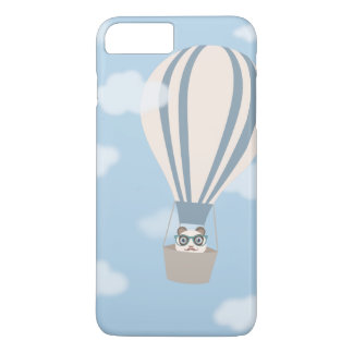 Hipster Panda on Hot Air Balloon iPhone 7 Plus Case
