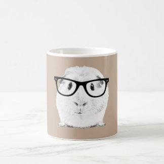 Hipster Pigster Basic White Mug