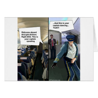 Hipster Pilot Funny Card