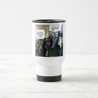 Hipster Pilot Funny Travel Mug