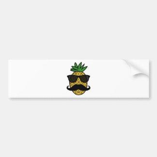 Hipster Pineapple Bumper Sticker