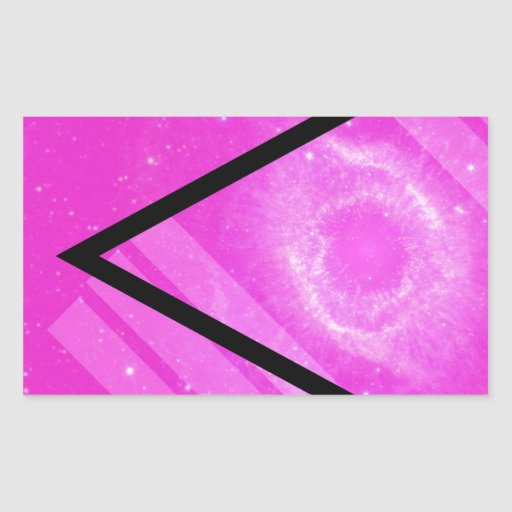Hipster Pink Galaxy with Black Triangle | Zazzle
