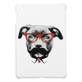 Hipster Pit Bull Terrier iPad Mini Covers