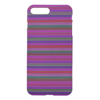 Hipster Purple Multi Stripes iPhone 7 Plus Case