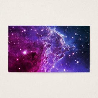 Hipster Purple Ombre Monkey Head Nebula Business Card