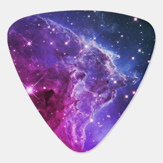 Hipster Purple Ombre Monkey Head Nebula Guitar Pick