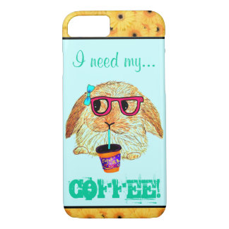 Hipster Rabbit with Coffee iPhone 8/7 Case