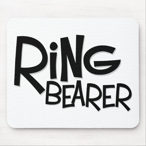 Hipster Ring Bearer Mouse Pad