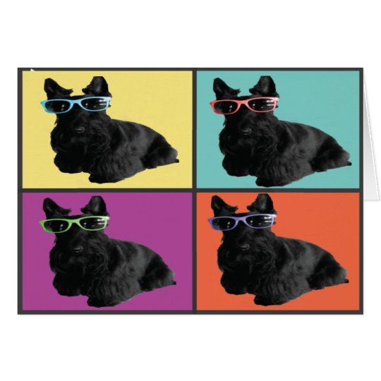 Hipster Scottie Note Card