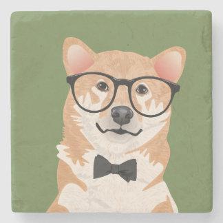 Hipster Shiba Inu Coaster