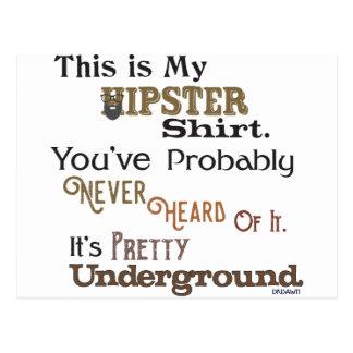 Hipster Shirt Postcard