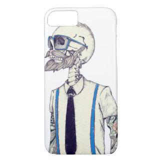 hipster skull cell phone case