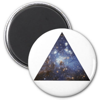 hipster space triangle magnet