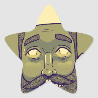 Hipster Star Sticker