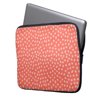 Hipster Style Confetti Coral Pattern Laptop Computer Sleeve