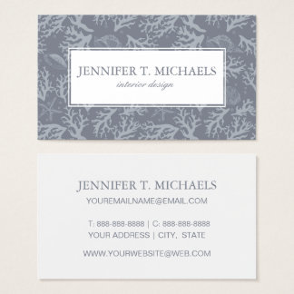 Hipster Style Coral Reef Business Card