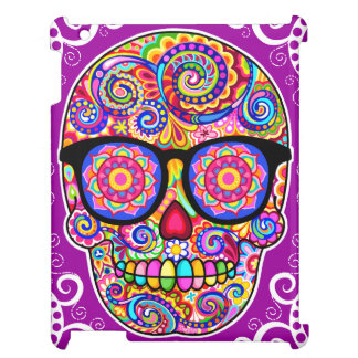 Hipster Sugar Skull iPad Case - Day of the Dead