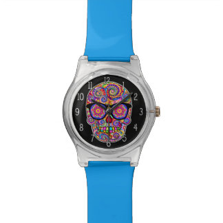 Hipster Sugar Skull Watch - Day of the Dead Art