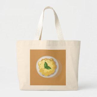 Hipster Thanksgiving Large Tote Bag