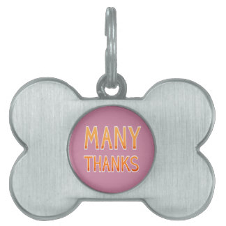 Hipster Thanksgiving Pet Tag
