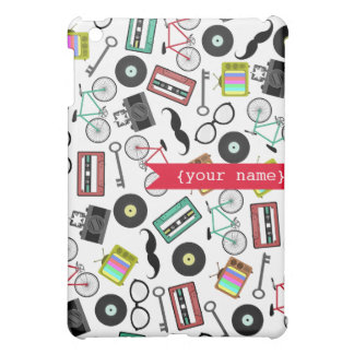 Hipster Themed Personalized  Cover For The iPad Mini