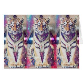 Hipster tiger - tiger art - triangle tiger - tiger card