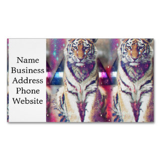 Hipster tiger - tiger art - triangle tiger - tiger Magnetic business card